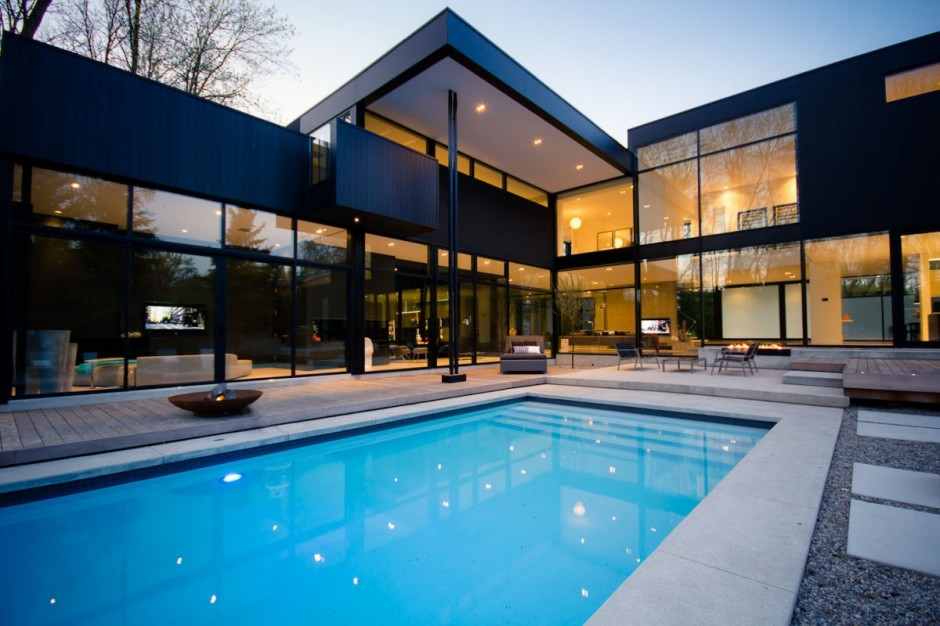 2 storey modern home in ontario canada most beautiful for Beautiful house in