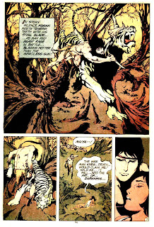 Tarzan v1 #232 dc comic book Korak page art by Alex Nino