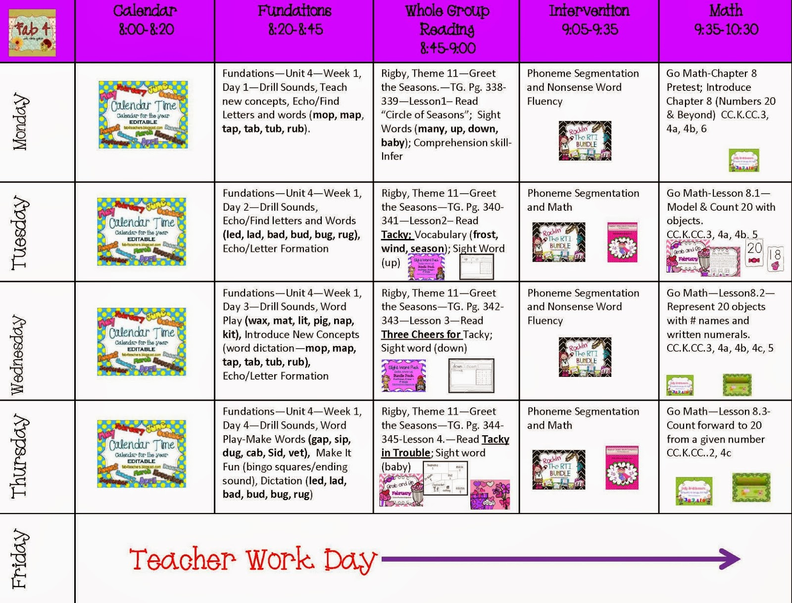 Fab4 Lesson Plans for the Week of February 10, 2014