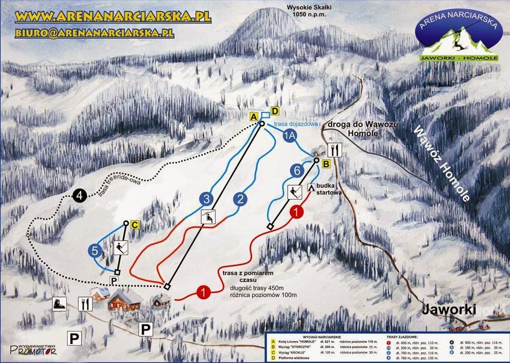 Wyciąg arena narciarska Jaworki