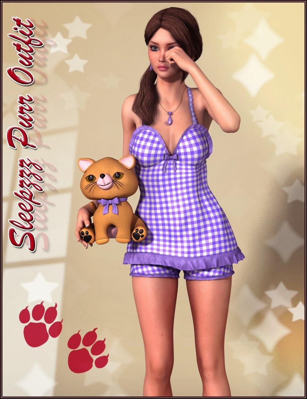 Sleepzzz Purr Outfit et accessoires