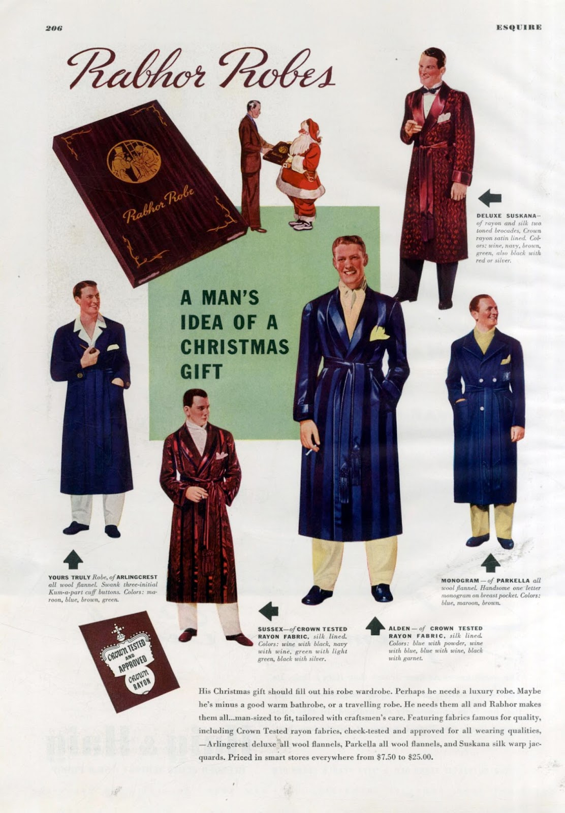 The Visual Primer Of Advertising Cliches Rabhor Robes December Austin Sandal Mitzi Silver 1938 A Mans Idea Christmas Gift