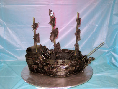 Pirate Ship Cake of The Black Pearl from Pirates of the Caribbean - Side View 2