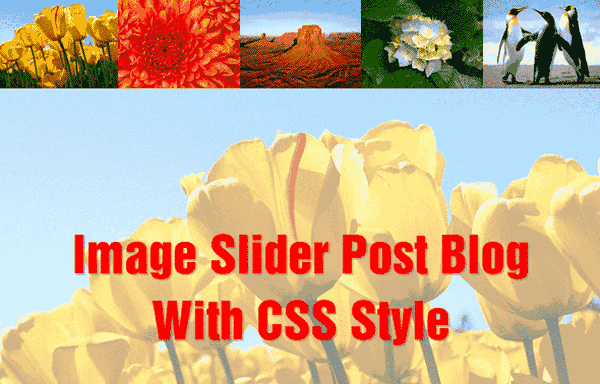 Responsive Image Slider Post