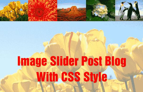 Membuat Responsive Image Slider Post Dengan CSS