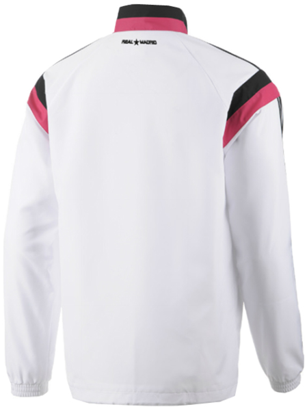 Jacket adidas Real Madrid Official 2014-15 Training Top - White Black Pink