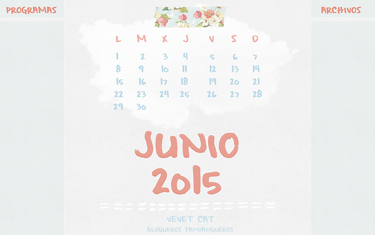 Calendario junio 2015 wallpaper