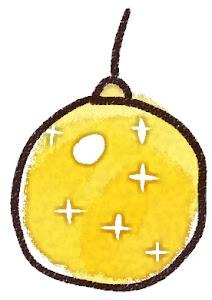 クリスマスの玉飾りのイラスト 黄