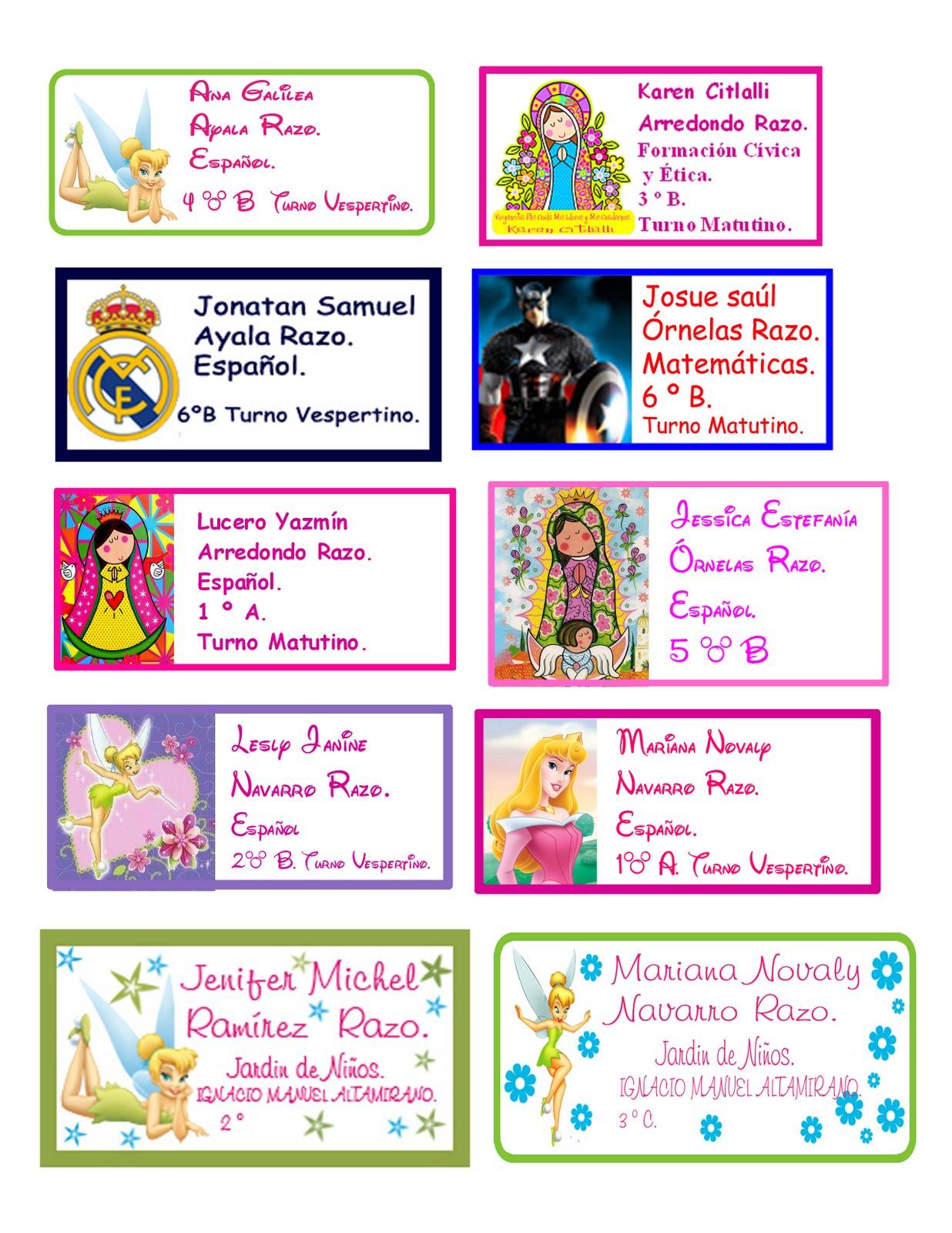 descargar gratis etiquetas para cuadernos