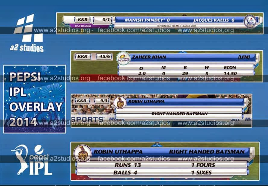 Pepsi IPL 7 Cricket game Patch Overlay Layout