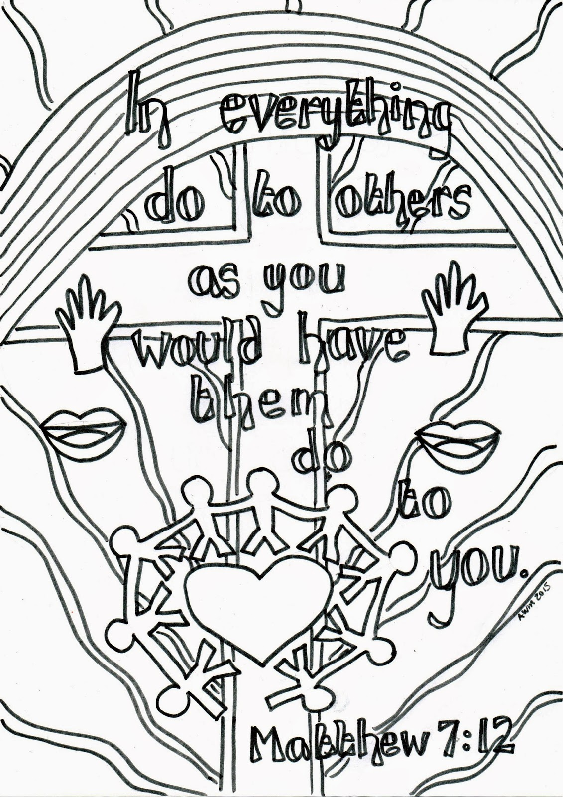 matthew 8 coloring pages - photo#16