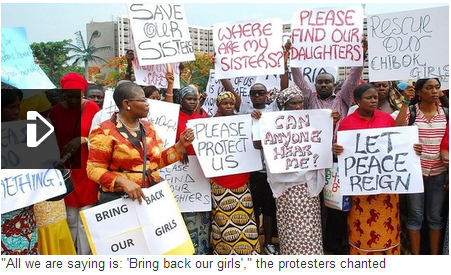 #BringBackOurGirls Nigeria Protest Hits Large Numbers