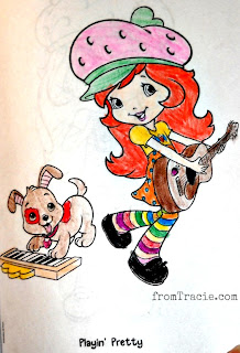 Strawberry Shortcake with guitar and Pupcake