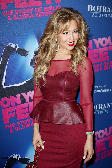 Actress, Singer @ Thalia arrives at Opening Night Arrivals for 'On Your Feet!'