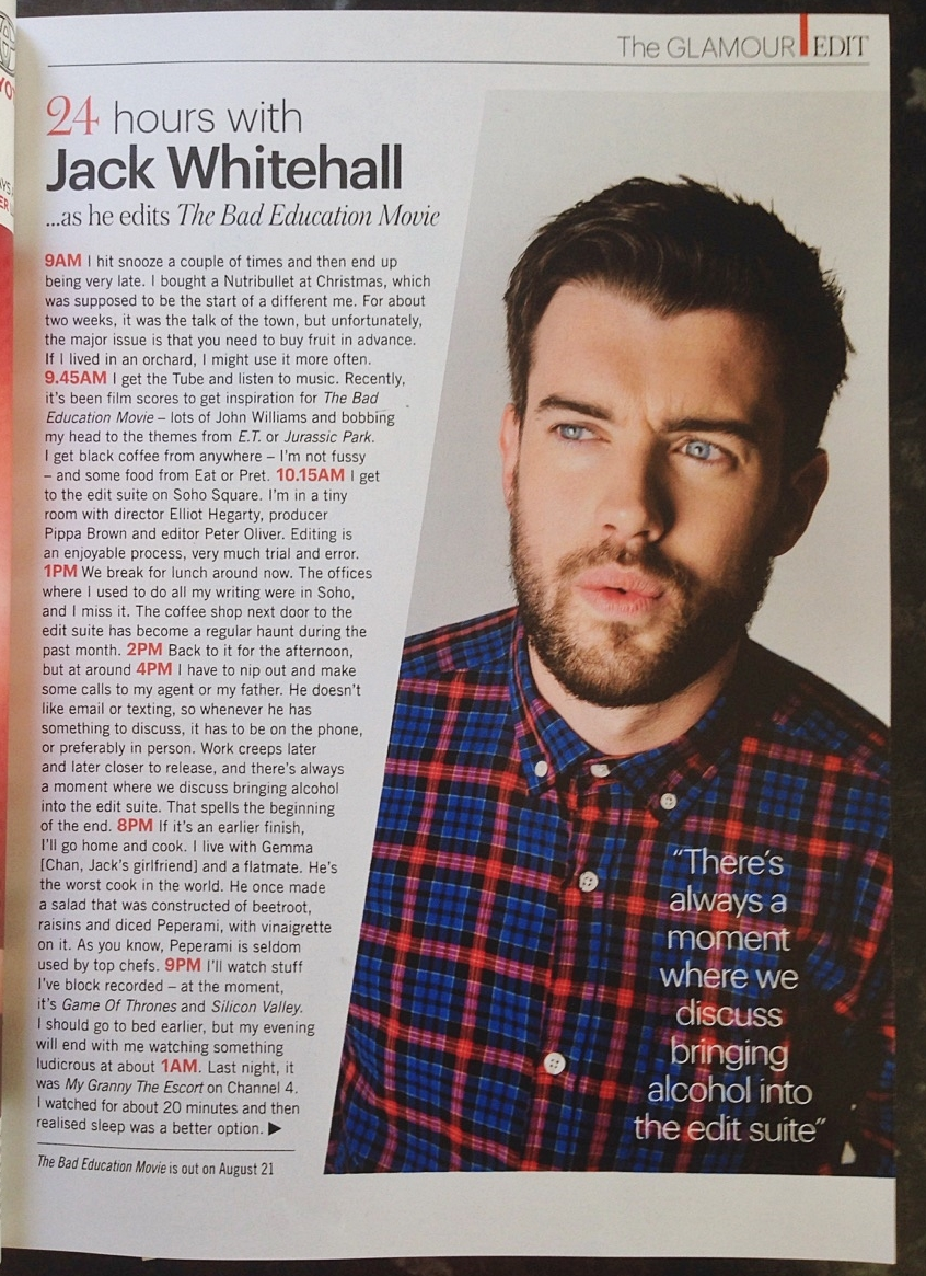 glamour magazine 24 hours with jack whitehall