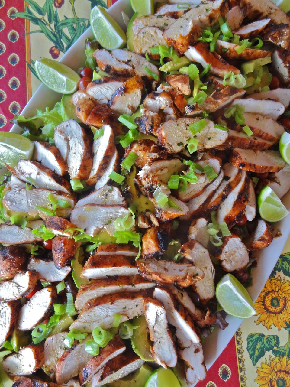 Southwestern Grilled Chicken Salad With Tomato And Black ...