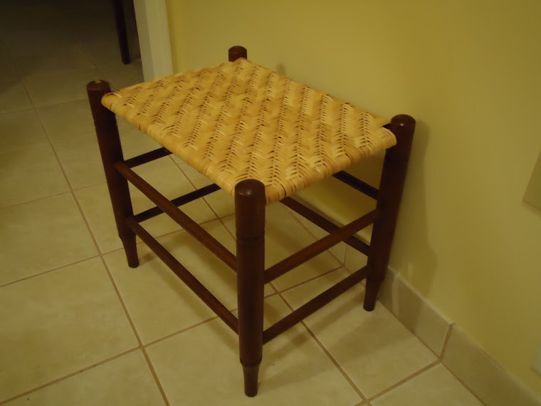 A stool I caned for Allison.