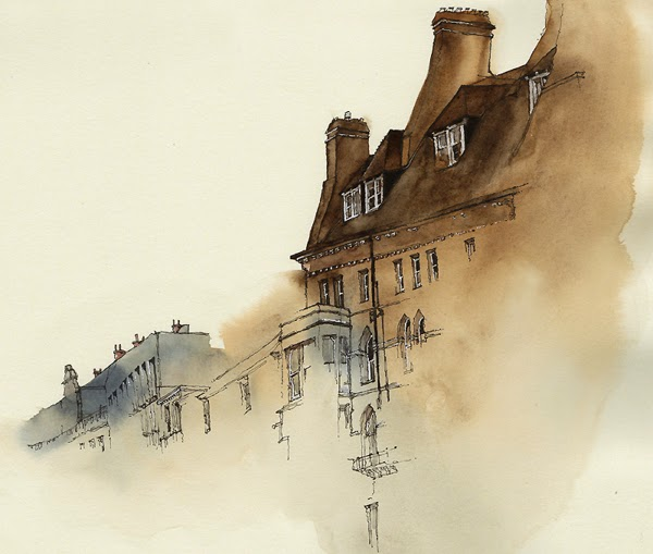 Water colour picture of Oxford