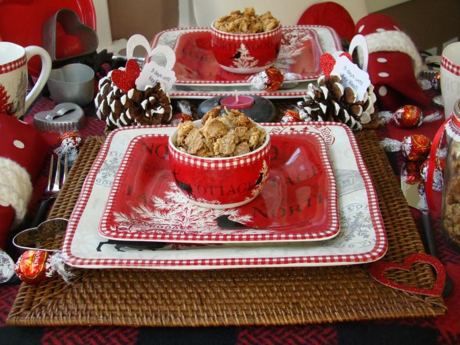 The Northwoods Cottage dinner plates were a gift to me for Christmas and mainly for use at our cottage. To break them in I set a table for two ... & Northwoods Cottage Valentine - Mountain Breaths