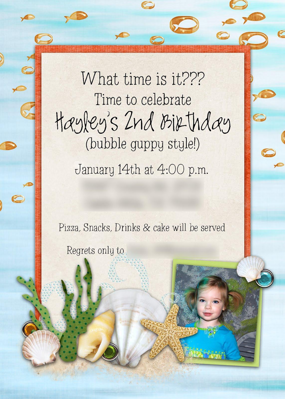 Slightly Askew Designs: Hayley - Bubble Guppy
