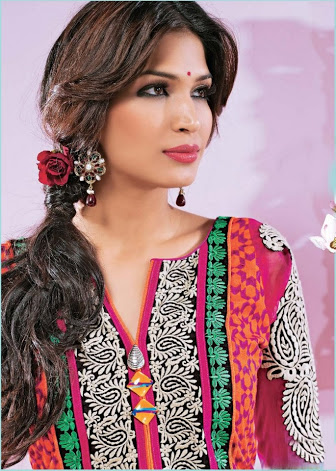 Hairstyle For Long Hair On Salwar Kameez : Hairstyles For Long Hair Images Hairstyle For Pakistani Salwar Suits ...