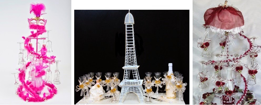 detalles todo party  quinceanera toasting glasses sets