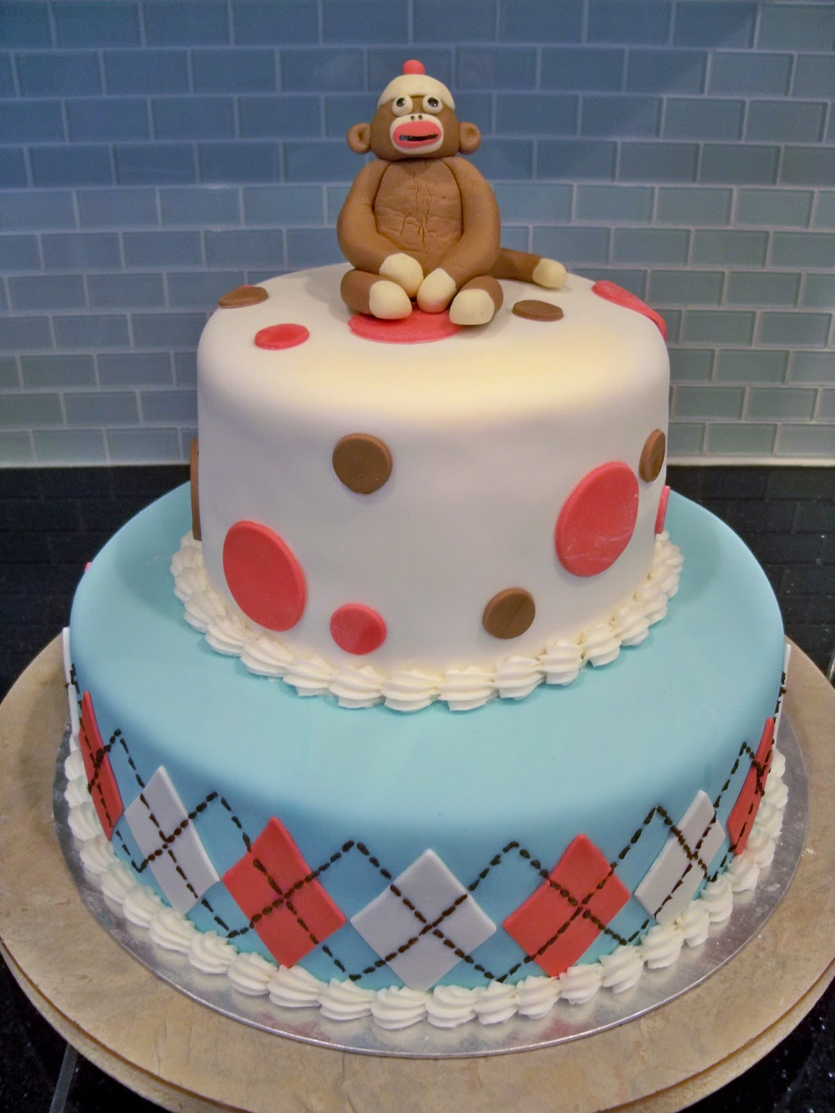 sock monkey cake pictures
