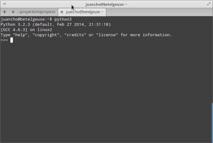Intérprete de Python 3