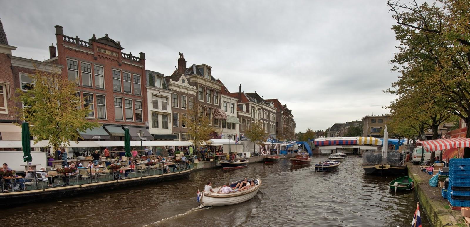 A boat trip by river in Leiden