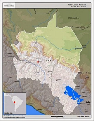 Peru Cusco Mission Map