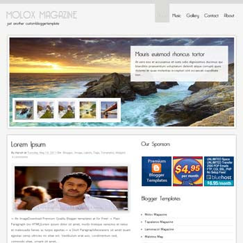 Molox Magazine blogger template. seo blogger template. magazine style template blogspot