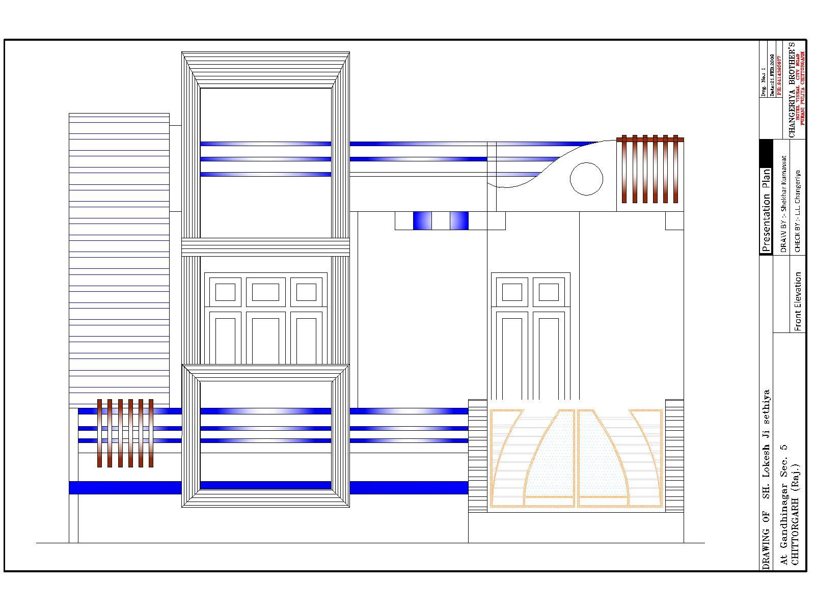 Mr Lokesh Sethiya House Plan & Exterior Design in 3D