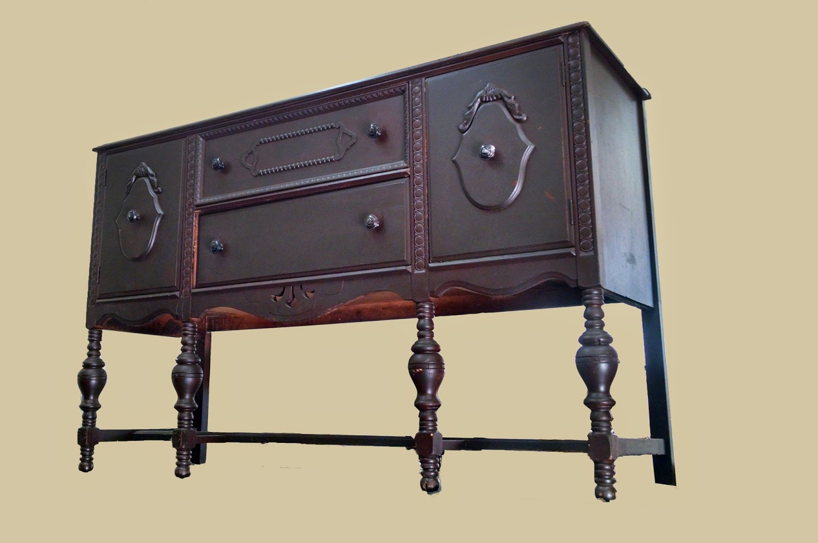 Uhuru Furniture Collectibles Painted 1930s Buffet 175 Sold