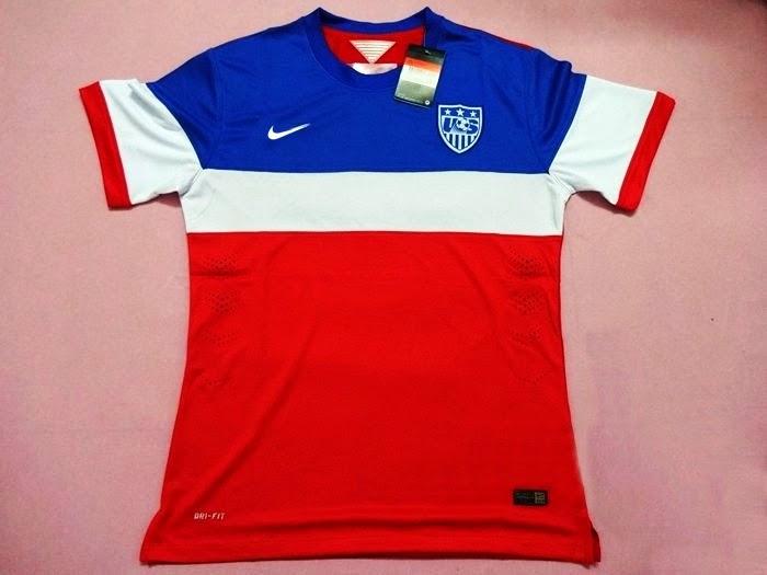 Jersey Amerika Serikat Away Piala Dunia 2014 Resmi