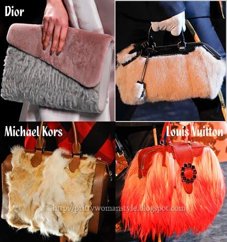 чанти от козина зима 2013