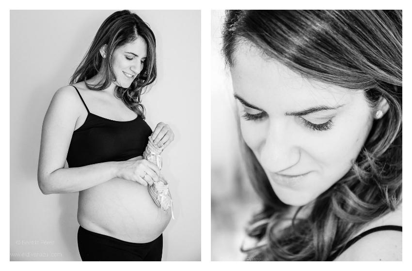 El Diván Azul Fotografía: sesión de premamá en estudio