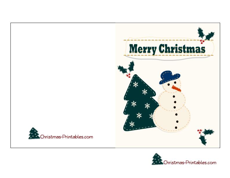 printable christmas cards free