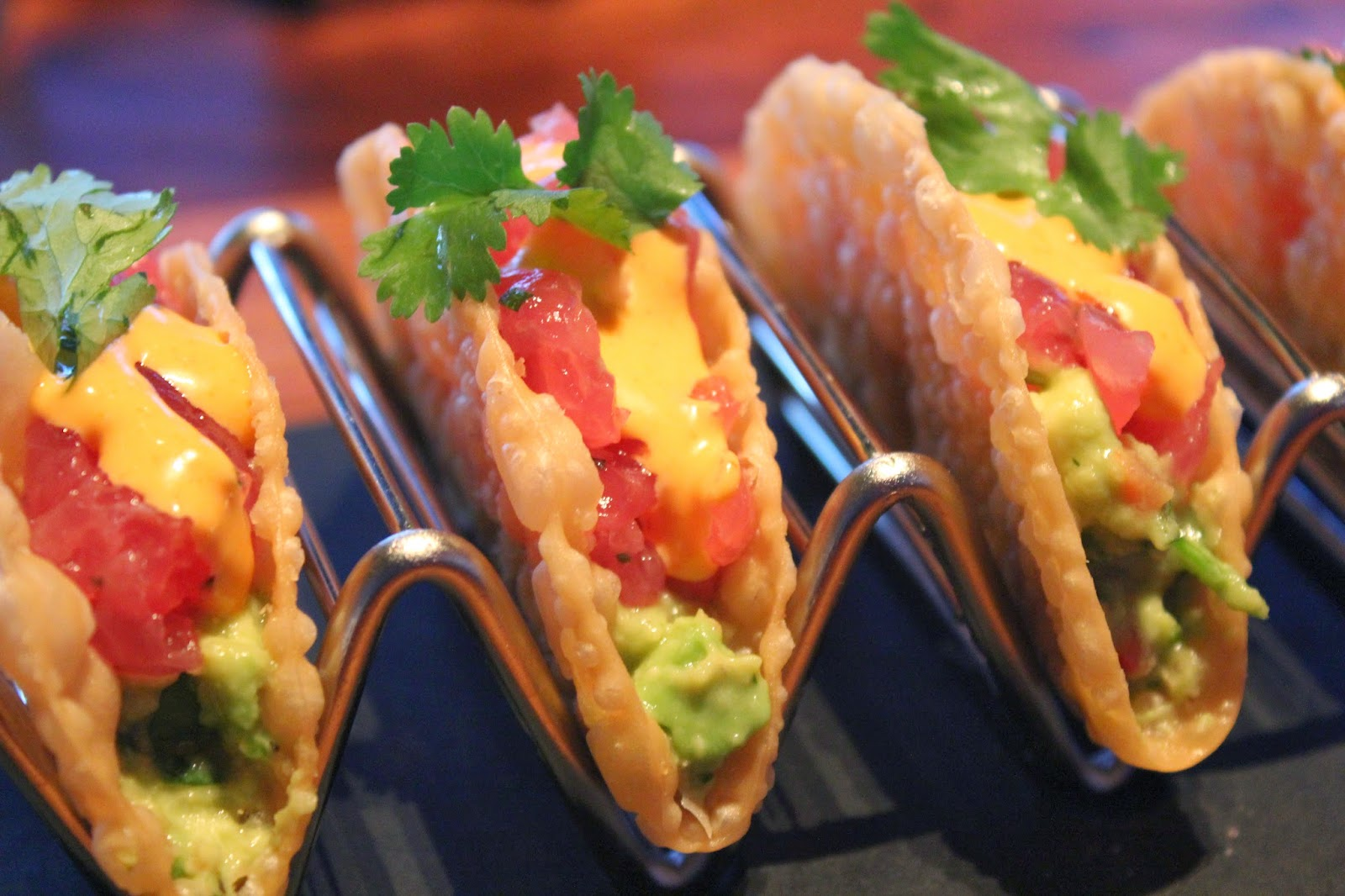 Ahi tacos at Del Frisco's Grille