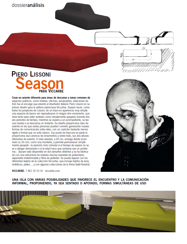 dzine season by piero lissoni. Black Bedroom Furniture Sets. Home Design Ideas