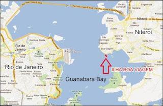 Map of boa viagem island Brazil