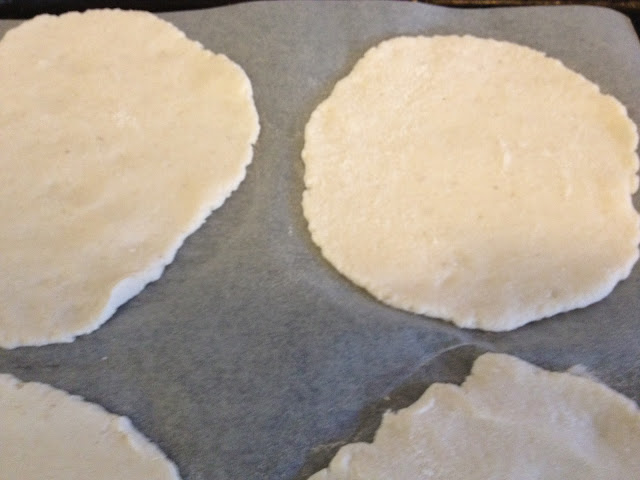 thin dough ready to bake