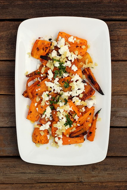 Harissa Roasted Carrots w/ Preserved Lemon & Couscous