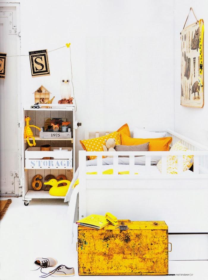 Habitaci n amarilla estilo vintage para ni o trendy children blog de moda infantil - Habitacion estilo vintage ...