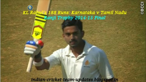 Video Highlights: KL Rahul 188 Runs, Karnataka v Tamil Nadu, Ranji Trophy 2014-15 Final