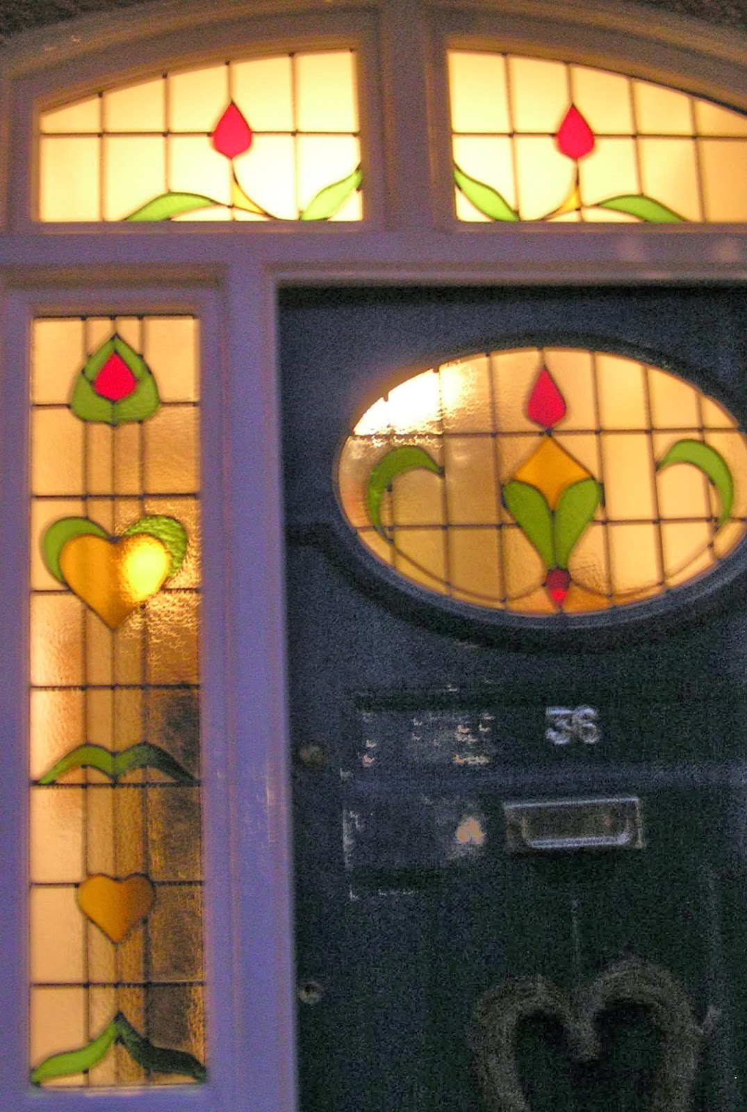 New stained glass door set Sydenham, London, SE26