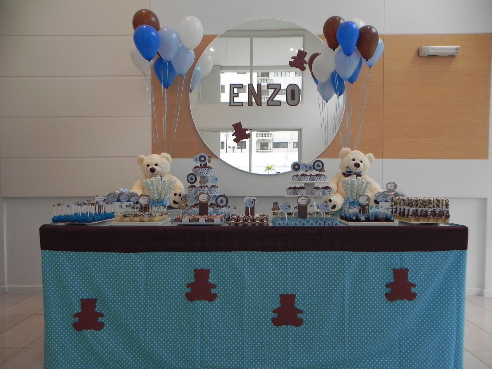 decoracao festa urso azul e marrom:CLAKEKA: Festa Azul e Marrom Ursos