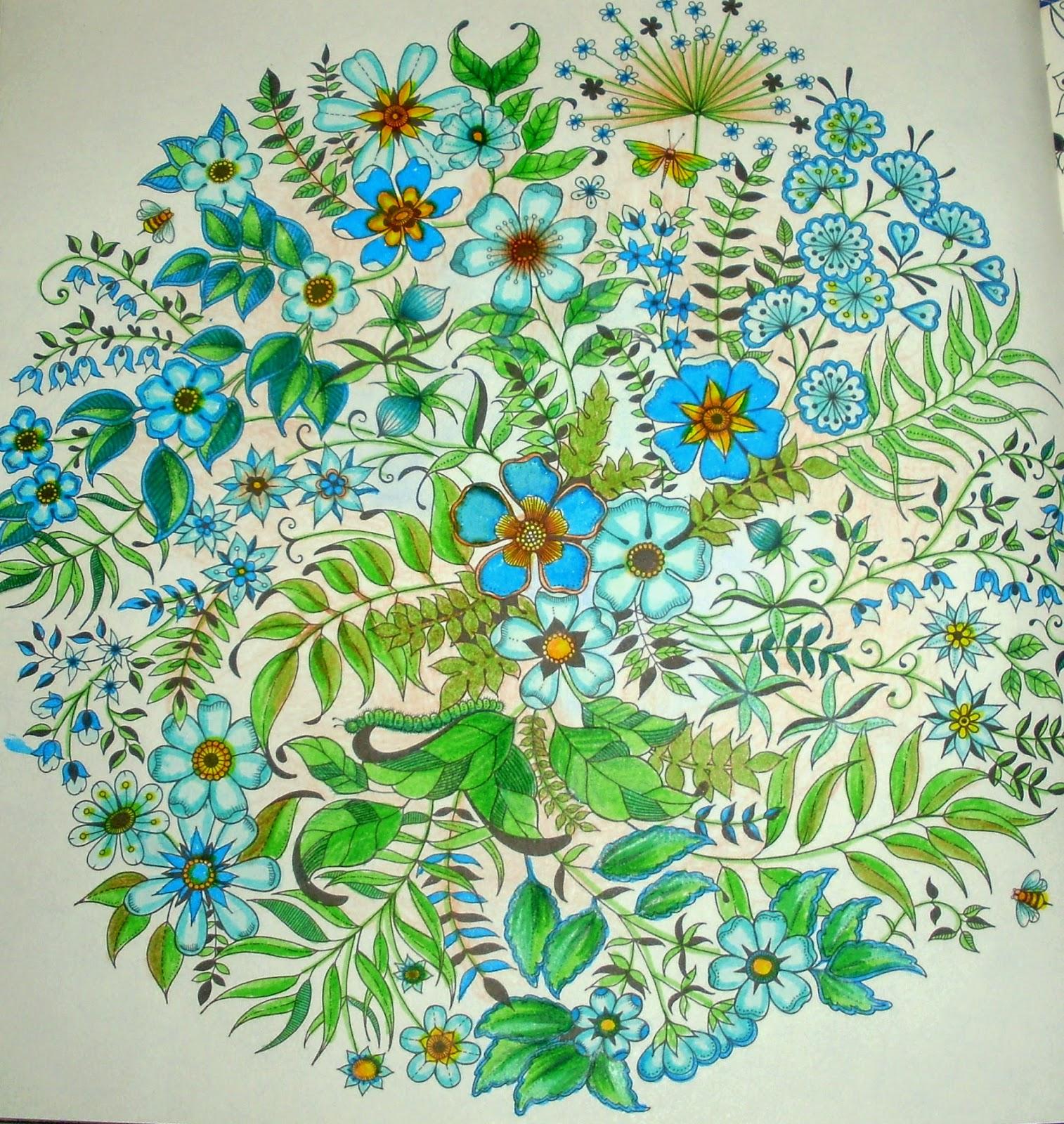 Blog da beth livro jardim secreto fazendo fundo com lapis de cor for Secret garden adult coloring book