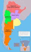 Mapa de Argentina (regiones de argentina)