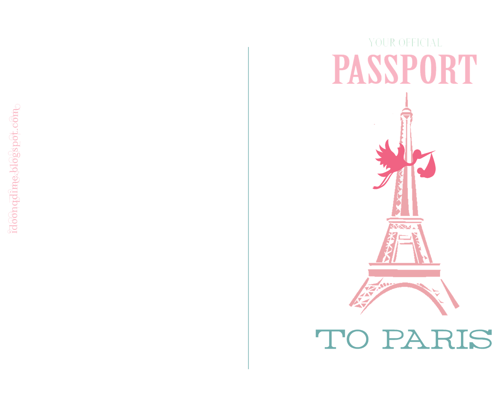 i do on a dime free paris baby shower passport invites and