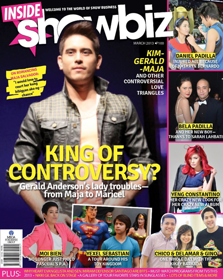 Gerald Anderson Covers Inside Showbiz Magazine March 2013 Issue